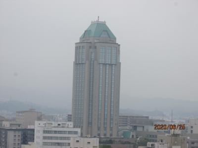 愛媛(伊予一国)ドライブ巡礼(65)日本百名城・今治城天守閣からの眺め。