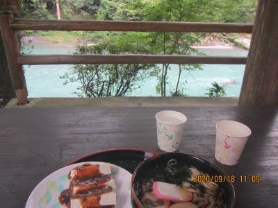 澤乃井園でランチの後、御岳遊歩道を散策