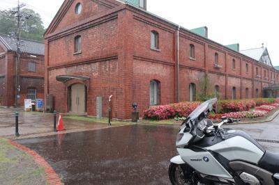 【BikeJINラリー2020】4-1、土砂降りのツーリング・舞鶴の赤煉パーク倉庫群と三方五湖