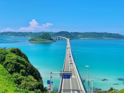 角島大橋目指してドライブしたら、沖縄並みにきれいなブルー!