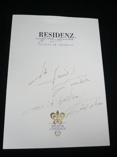 2008年春:ミシュラン3星レストランHeinz Winklerハインツ・ヴィンクラーで、人生初の贅沢な夕食を楽しむ