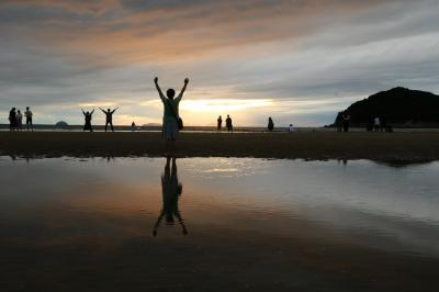 讃岐うどんと父母ケ浜の夕陽を楽しみに出かけて来ました(1日目)