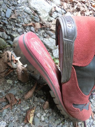 県内旅行で西丹沢へ。その1 西丹沢ビジターセンターよりハイキングをスタートさせたのですが、途中で家内の登山靴がぁぁぁぁぁぁぁぁぁぁぁ