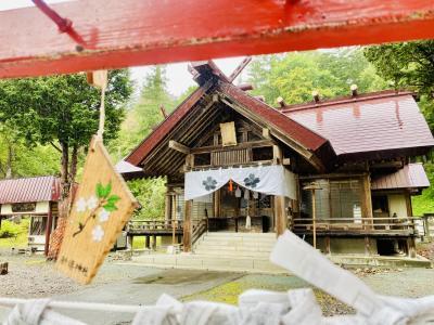 新得町散策 ごりらのしっぽでクロワッサン 旧狩勝線SL広場でD51 桜の山に新得神社