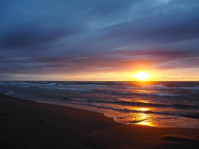 2020.09 ドライブ&ライトレールで北陸へ(3)千里浜なぎさドライブウェイで日本海に沈む夕陽を見よう