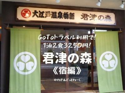 GoTo利用で1泊2食3250円!大江戸温泉物語『君津の森』に宿泊《宿編》。