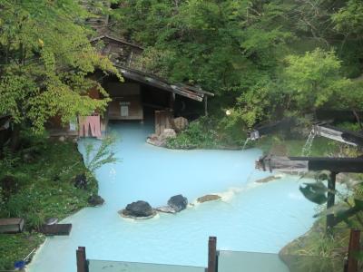 九州(大分)から北海道までマイカーの旅 8-4  白骨温泉泡の湯 編