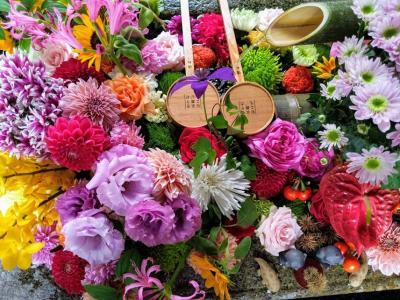 秋の初めにGo To Kyoto②~10分モンブランと三条通りのレトロビルと花手水