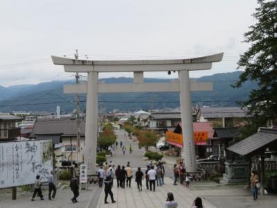 諏訪大社(上社本宮・前宮・下社秋宮・春宮)を観光・参拝しました