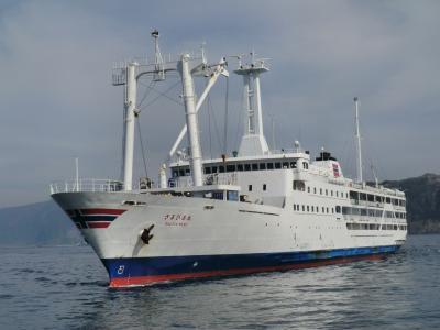 異国の地に旅立った、東海汽船2代目さるびあ丸。