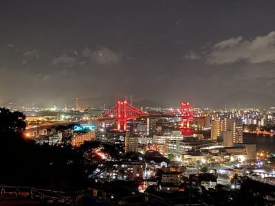 2020年9月 北九州旅行1日目 その2 門司港・戸畑・若松の夜景