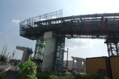 田谷の高速道路建設現場