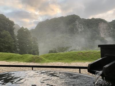 今年も奥日田温泉うめひびきでちょっと早めにお誕生日祝い。