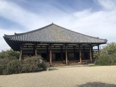 萩満開見ごろ 世界遺産 元興寺へ
