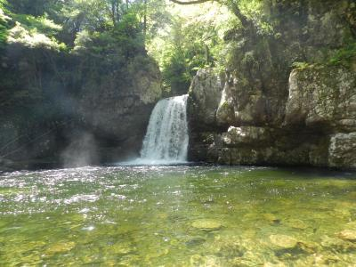 三段峡の『二段滝』/1000滝訪問達成しました~!◆2018年GW・広島の滝めぐり《その3》