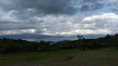 福島県の猪苗代湖が見渡せる無料キャンプ場