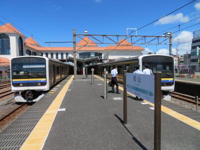 南房総ゆったり温泉宿ステイ(5終)内房、総武快速、横須賀線2階建グリーン車で電車の旅