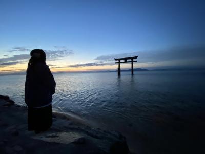 2020.10高島のコキアが見たくて~白髭神社・メタセコイヤ並木・箱館山・竹生島