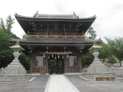 愛媛(伊予一国)ドライブ巡礼(84)途中の石鎚神社に参拝し、松山空港へ。