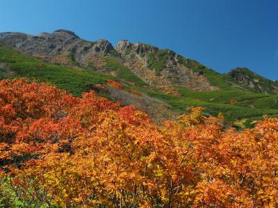 山装う 秋の御嶽山登山旅行 その1黒沢口コースで剣ヶ峰へ