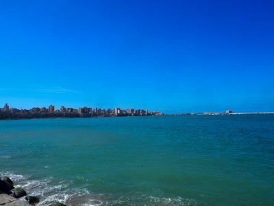 久々の地中海を見にアレクサンドリアへ