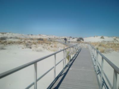 ニューメキシコ州 ホワイトサンズ国立公園 ー インターデューン ボードウォーク