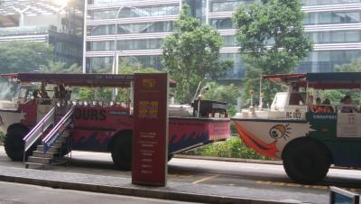 シンガポール名所観光 その4 - 水陸両用車ダックツアーでのベイエリア周遊