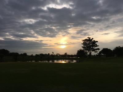 あてにならない天気予報のお掛けで、またまた濡れずに済んだ タイで6回目のゴルフ
