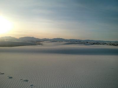 ニューメキシコ州 ホワイトサンズ国立公園 ー サンセット ストロール