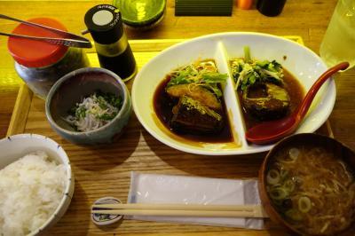 20201015-1 福岡 お出かけ前に…煮魚少年で鯖の定食いただいて