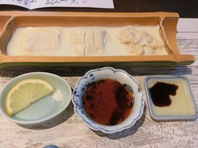 でき立て豆腐と湯葉料理。北千住散策。