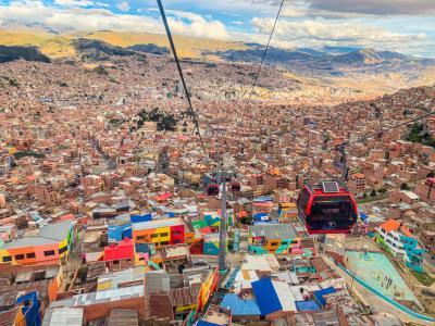 2020年1月 ウユニ塩湖直前!ボリビア・ラパスで絶景の空中散歩(ペルー・ボリビア・メキシコ14日間周遊旅5)