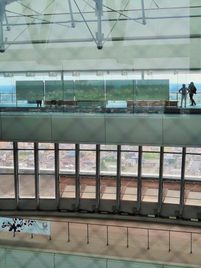 水戸-7 茨城県庁舎 b  25階展望ロビーで 爽快!快適! ☆〔花水木〕で喫茶ランチを