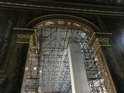 旧王立海軍学校ペインテッド・ホール 修復期間限定の天井ツアー(すでに終了)