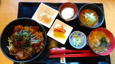 大多喜町の番所で猪丼を食べました。