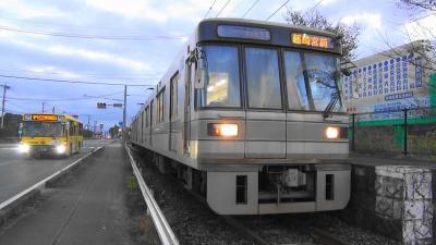 旧型の電鈴(ゴング)式の踏切の優しい音色を求めて 元東京メトロ都営地下鉄電車が活躍する熊本電鉄さん