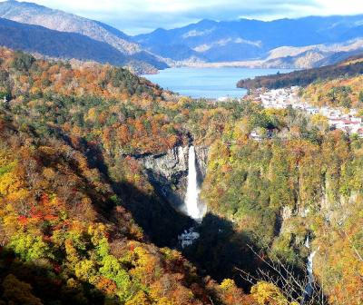 団塊夫婦の2020年日本紅葉巡りドライブー(関東5)明智平&華厳の滝&中禅寺湖畔散策