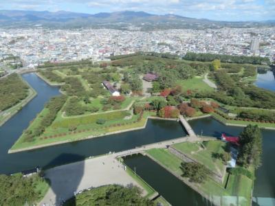 函館の「五稜郭公園」を散策して「五稜郭タワー展望台」で眺望を楽しむ
