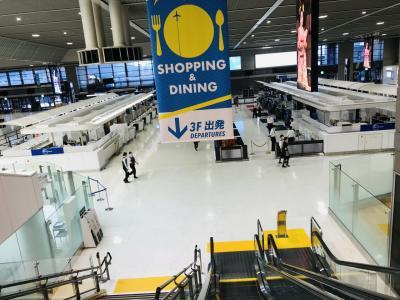成田空港はシヤッター通り状態