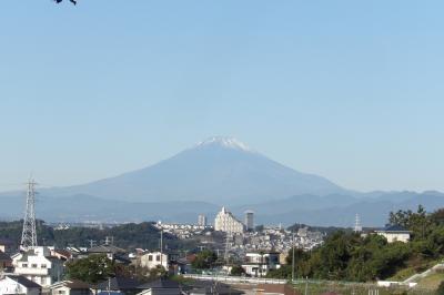 小菅ヶ谷北公園富士山遠眺地から見る富士山-2020年秋