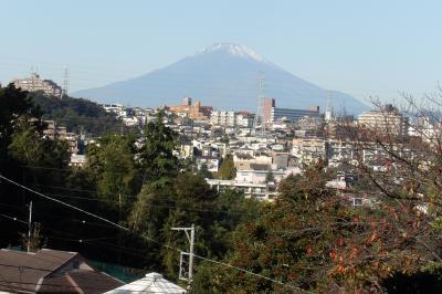 八幡谷公園上から見る富士山-2020年秋