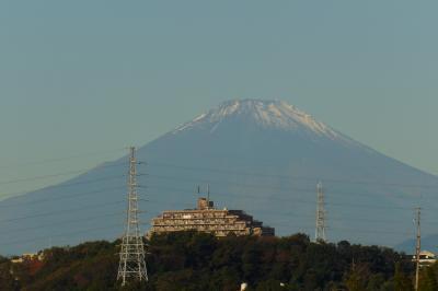 紅葉滝から見る富士山-2020年秋