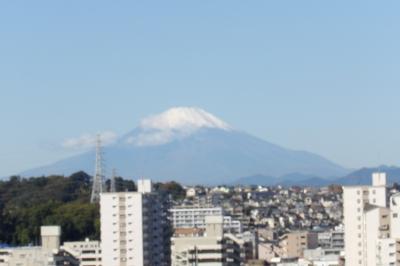 水神橋辺りから見る富士山-2020年秋