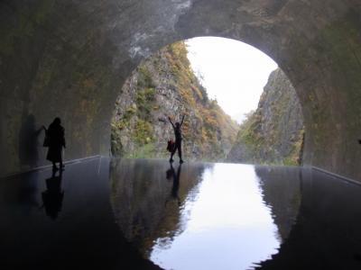 松之山温泉泊まり、清津峡と美人林観光