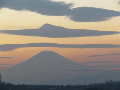 舞岡公園西尾根道から見る富士山-2020年秋