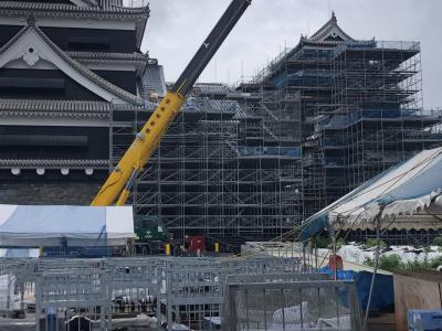熊本城 地上約6mから観覧する「令和の築城」