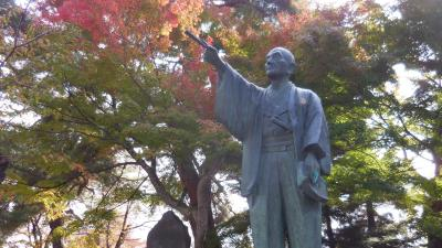 秋の山形、福島、宮城 秘湯と絶景ラインを巡る旅 3.奥羽本線峠駅と城下町米沢