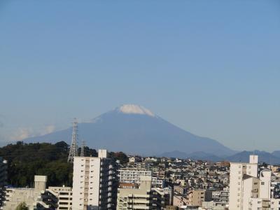 上倉田水神ヶ谷公園から見る富士山-2020年秋