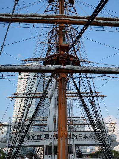 横浜22 帆船-日本丸 乗船*見学Course-1 ☆船首-船橋-甲板-実習生室-操機長室-機関室-