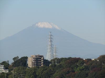 吉田町大日谷公園から見る富士山-2020年秋